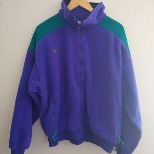 Vintage mens Columbia fleece zip up jacket size XL